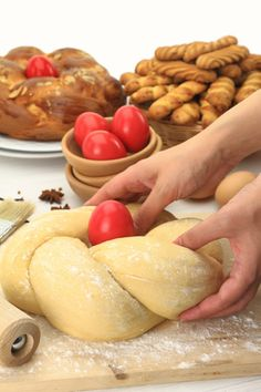 Greek Easter resource about everything from Greek Orthodox Easter religious, cultural and food traditions. Greek Easter this year is on April Passover Recipes, Easter Recipes, Greek Easter Bread, Orthodox Easter, Greek Sweets, Greek Cooking, Greek Dishes, Easter Traditions, Easter Celebration