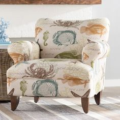 coastal upholstered chairs from wayfair in 2018 coastal decor