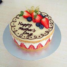 Mandy's baking journey: Le Fraisier cake