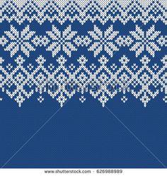 Norway Festive Sweater Fair Isle Design. Seamless Knitting Pattern