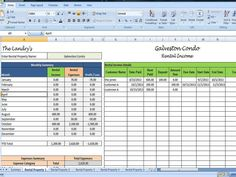 Landlords Spreadsheet Template, Rent and Expenses Spreadsheet, Short Term Rentals- 5 Property Template
