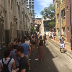 The line to In and Out literally goes up and around two corners and it's not even open yet. This is the end. #inandout #sydney #bigerthantheiphone