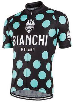 Bianchi Milano Pride Polka Dot Black Green Jersey  d50676c06