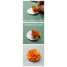 binks+babe: How to Make: Ruffle Pom-Pom Flowers {Tutorial}