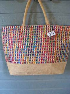 Viva Beads Inspired Tote Bag Large Handbag Natural VB2 w/ Zipper Closure   http://stores.ebay.com/beachcats-bargains  beachcats bargains