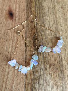 Opal Earrings 14k Gold Filled Opal Earrings Opal Dangle