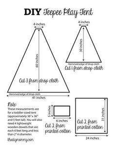 DIY Teepee Play Tent Tutorial by The DIY Mommy Divina carpita!