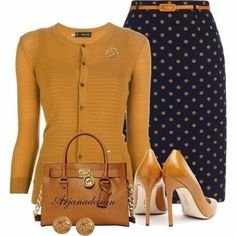 Look at this Gorgeous work fashion trends Komplette Outfits, Fall Outfits, Casual Outfits, Fashion Outfits, Womens Fashion, Fashion Trends, Polyvore Outfits, Skirt Outfits, Fashion Heels