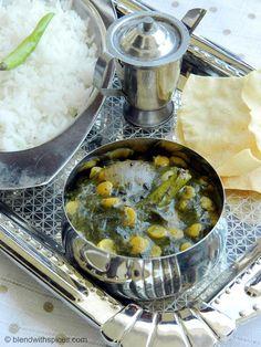 Gongura Pulusu Koora - A popular Andhra curry made with sorrel leaves and chana dal.    RECIPE: http://www.blendwithspices.com/2013/03/gongura-pulusu-kura-recipe-sorrel.html