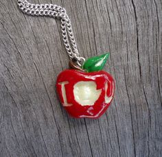 IOU Apple Necklace Moriarty BBC Sherlock by Geeekalicious on Etsy