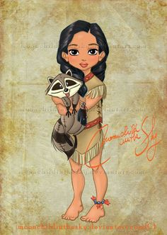little disney princess #pocahontas #disneyprincess #disney #art