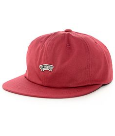 finest selection f7f70 0120c Vans Chili Pepper Unstructured Red Snapback Hat