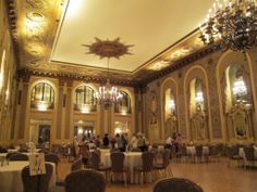 Picture of the ballroom at the Hotel du Pont; our recent accommodations on the Treasures of Brandywine Region trip