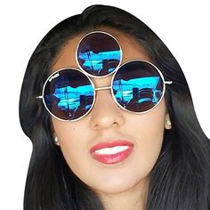 Make a statement with Third Eye Sunglasses! Our Third Eye Sunglasses are a unique form of expression. Not only do they set you apart from the crowd, garnet third eye, Round Sunglasses Cute Sunglasses, Round Sunglasses, Mirrored Sunglasses, High Cheekbones, Cool Glasses, 3rd Eye, Face Shapes, Crystal Jewelry, Women's Accessories