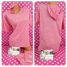 New Victoria 039 s Secret Vintage Tees Short Sleeve Hoodie Pink Soft Light Medium M | eBay
