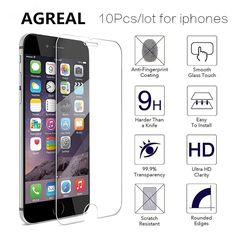 10pcs lot TOP Quality 0.3mm Screen Tempered Glass For iPhone 7 6 6s plus e0bc9ea35d