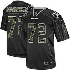 John Matuszak Men s Elite Black Jersey  Nike NFL Oakland Raiders Camo  Fashion  72 6c30b6c04e86e