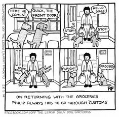 Grocery Time - Off The Leash Dog Cartoons by Rupert Fawcett