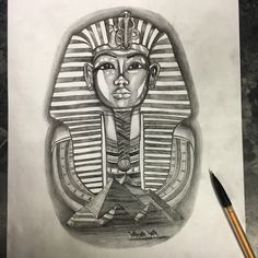 Egyptian Cat Tattoos, Egyptian Tattoo Sleeve, Egyptian Drawings, Egyptian Art, Dope Tattoos, Leg Tattoos, Body Art Tattoos, Sleeve Tattoos, Script Tattoos