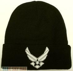 a16cf857f67 U.S. AIR FORCE USAF WINGS LOGO EMBLEM BEANIE KNIT WINTER WARM WATCH CAP SKI  HAT