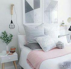 Cute Female Minimalist Apartment Decorating Ideas 20 - Home Decor Ideas 2020 Home Bedroom, Bedroom Decor, Bedroom Wardrobe, Bedroom Ideas, Master Bedroom, Kids Bedroom, Blush Bedroom, Gray Bedroom, Bedroom Lighting