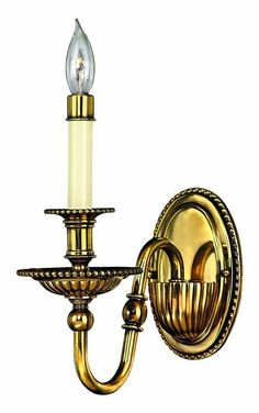 View the Hinkley Lighting H4410 1 Light Indoor Candle-Style Sconce Wall Sconce from the Cambridge Collection at LightingDirect.com.
