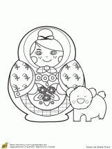Coloriage des poupées du monde sur Hugolescargot.com