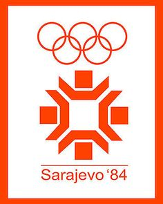 "1984 Sarajevo Winter Olympic Poster - 8"" x 10"" Photo in Sports Mem, Cards & Fan Shop, Fan Apparel & Souvenirs, Olympics 