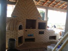 Dream Kitchen. Brazillian Style Churasqueira with pizza oven, Charcoal or wood bbq, Regular oven, and wood fired stove. By Marcio Medeiros on FB.