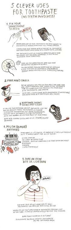 5 Clever Uses for Toothpaste.