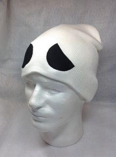 0e4b462cd47 Pokemon Team Skull Symbol Skullcap Hat Grunt Character Cosplay Sun Moon  Game White with Black Eyes Gaming Fan