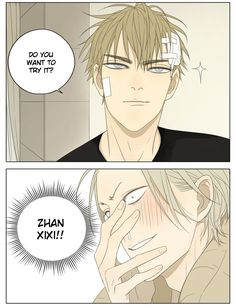 XI-XI PLZ LOVE YOUR BAE щ(ಥДಥщ) #old先 and Zhan Xi always tease my poor kokoro (╥_╥) in #19天 (Ch.134 Page 5 - Mangago) *Sniffle* I will go down with this ship. Jian Yi hang in there!