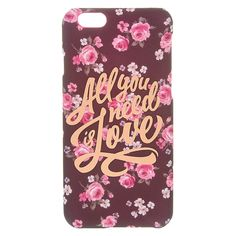 """<!-- mp_trans_remove_start=""""FR"""" --><P>This phone case reminds you what's important in life. Adorable pink and white floral design layed on a dark charcoal background. A gold-toned overlay reads """"All you need is love"""" in a fun cursive print. </P> - <UL> - <LI>Currently only available to fit iPhone 6/6S  - <LI>Apple Inc. is not responsible for this product. iPhone® and iPod® touch are registered trademarks of Apple Inc...."""