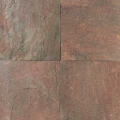 """Mohawk Slate Collection Floor or Wall Slate Tile 16"""" x 16"""" Natural at Menards"""