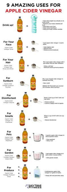 AMAZING USES OF APPLE CIDER VINEGAR #Various #Trusper #Tip