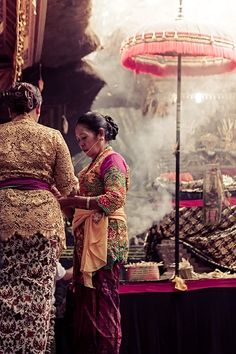 A temple ceremony in Ubud, Bali