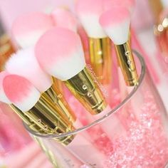 Beautiful makeup brushes