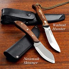 Bushcraft Survival Knives, Walnut Hunter & Nessmuk Skinner