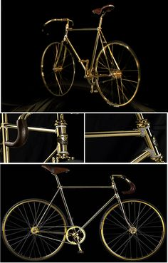 """24k Gold Platted Fixed Gear with Crystals by Aurumania"" uhmmm...o.k."