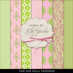 FREE Freebies Kit of Paper - In Garden by Far Far Hill