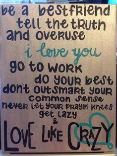 Quote on Canvas: country lyrics