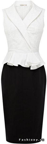 Karen Millen Geometric Broderie Dress in Black (black & white) - Lyst Mais Karen Millen, Mode Glamour, Mode Outfits, Business Attire, Look Chic, Work Attire, Mode Style, Work Fashion, African Fashion