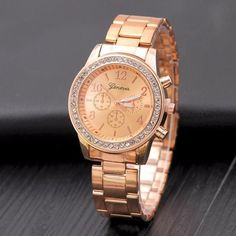 9e22bb790ef 2017 New Geneva Female Fashion Quartz Watch Women famous brand Luxury  Rhinestone Watches Kobiet zegarka Stainless
