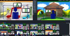 vMix virtual set kids volume 2 Kids Background, Background Images, Virtual Studio, Green Screen Backgrounds, Camera Angle, Chroma Key, News Studio, Camcorder, Hd Video