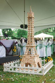 Wine cork Eiffel tower