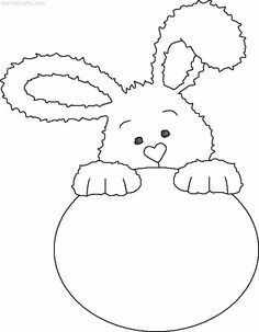 easter-bunny-coloring-page (13)  |   Crafts and Worksheets for Preschool,Toddler and Kindergarten