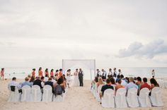 Stefanee and Jorge's Beautiful Coral and Gray Destination Beach Wedding in Mexico » Two Birds Photography