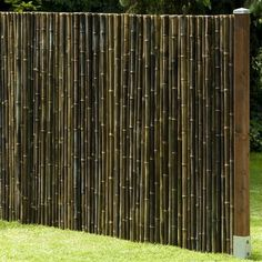 Privacy Screen Black, Bamboo