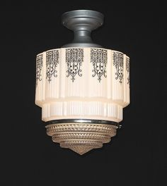 *art deco black design | vintagelights.com | We have one like this we want to put in our house