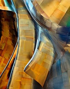 Rivets and Pins by Brent Smith - a closeup of the EMP building in Seattle, WA, U.S.A designed by Frank Gehry